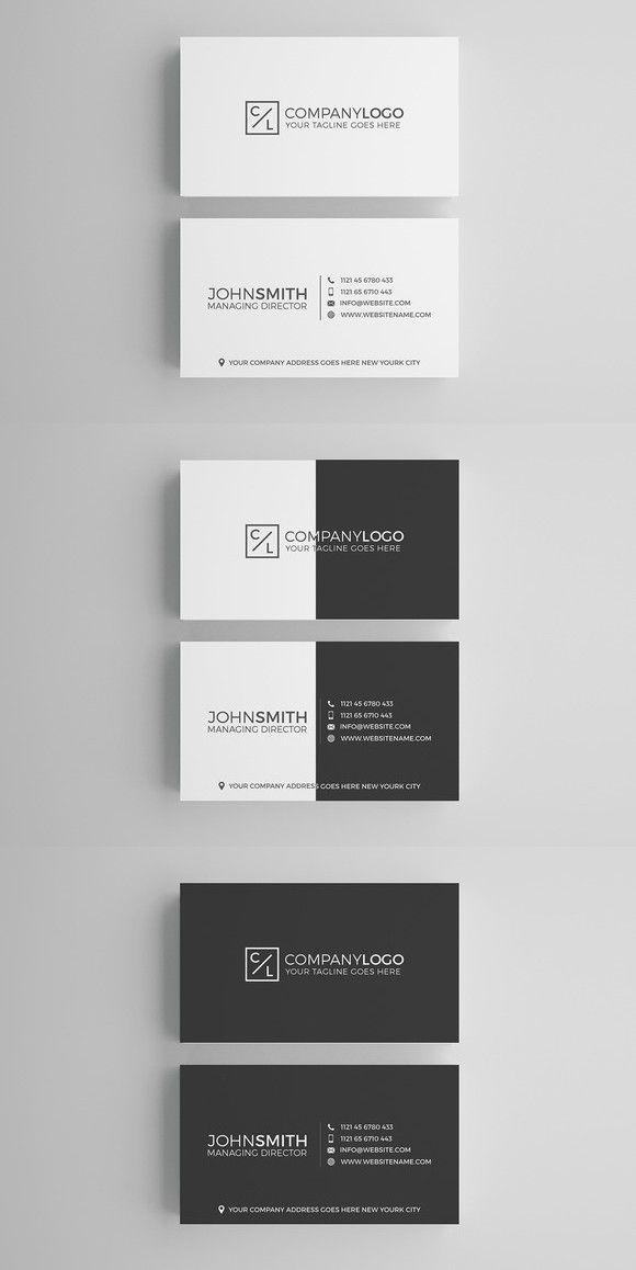 Minimal Modern Business Card Design | Card templates, Business cards ...