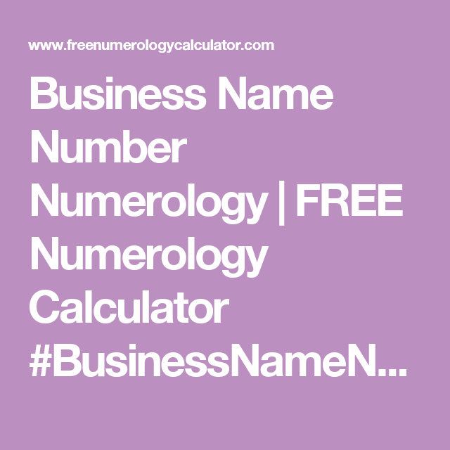 You By Your Numbers: Numerology Report