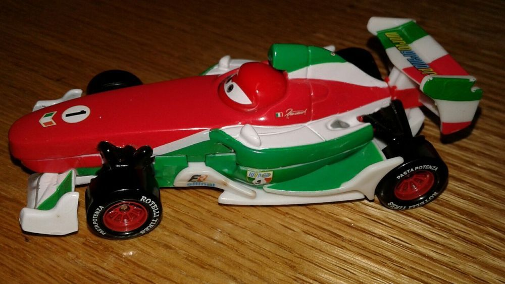 Disney Pixar Cars 2 DieCast Francesco /& Exclusive Party Wheels Lightning McQueen