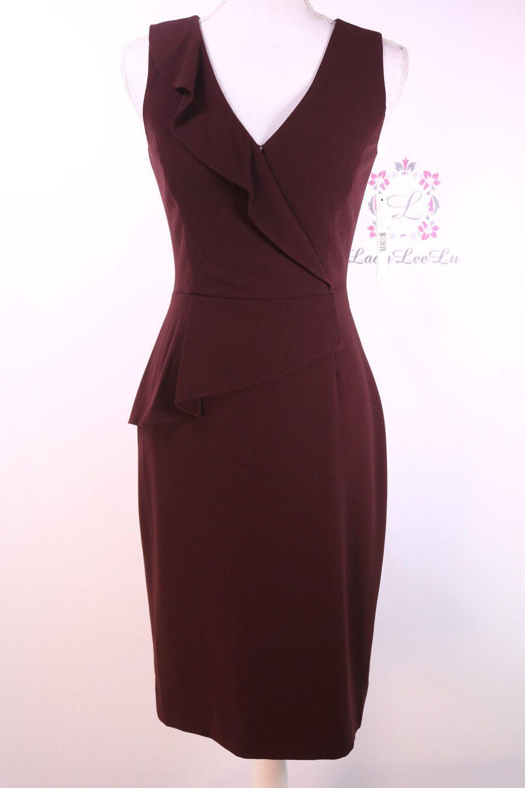 59d7745a6e7 Antonio Melani Dress Brown Silvia Crepe Sheath Dress Size 0 2 4 6 8 10 12