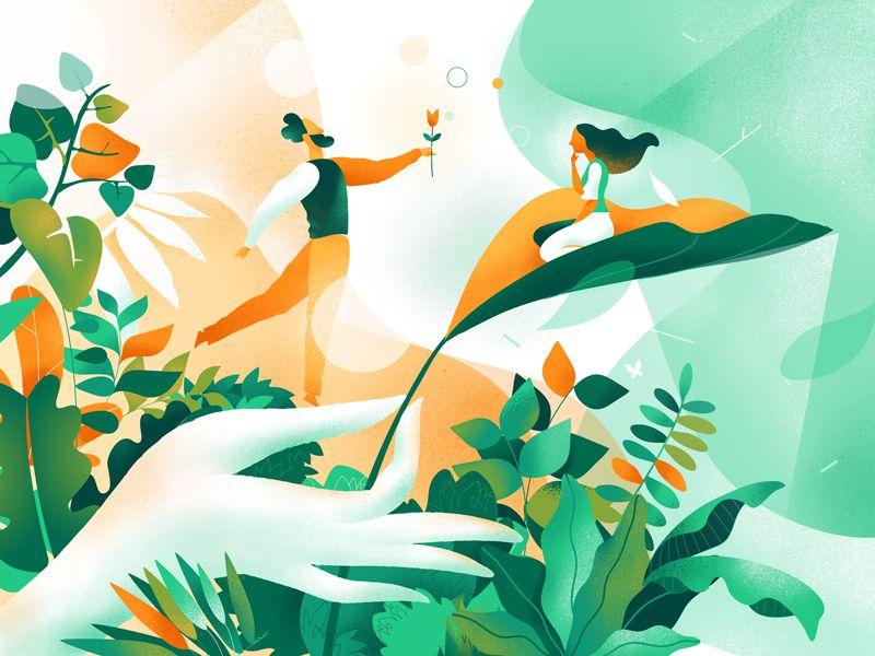 Garden Of Eden Graphic Design Illustration Illustration Illustration Art