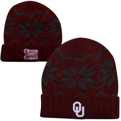 Top of the World Oklahoma Sooners Thermia Cuffed Knit Beanie - Crimson
