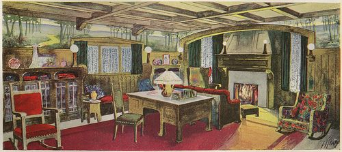 A Living Room In The Style Of Modern English School
