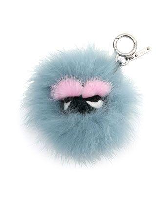 Fendi mini Bag Bugs charm - Blue qoXTNz4kKd