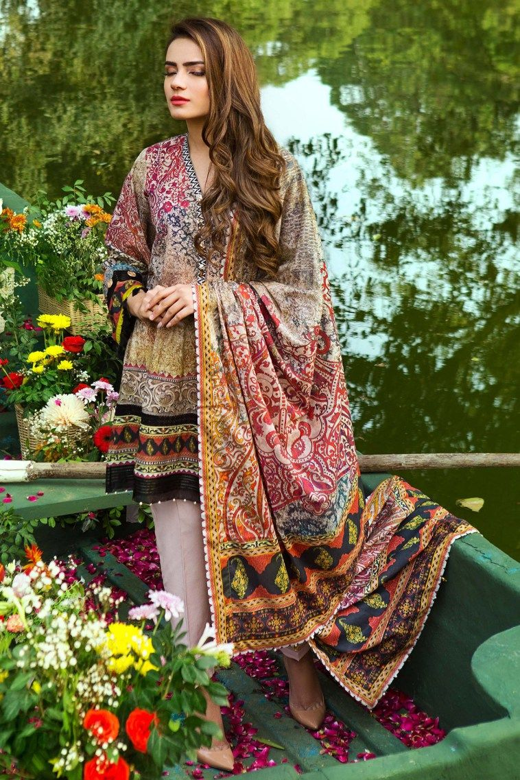 f7ac8aeb1d 3 Piece Grey Ready to wear Pakistani Dress is available online at a  discounted sale price online shopping alkaram spring summer festival Eid  collection 2017 ...