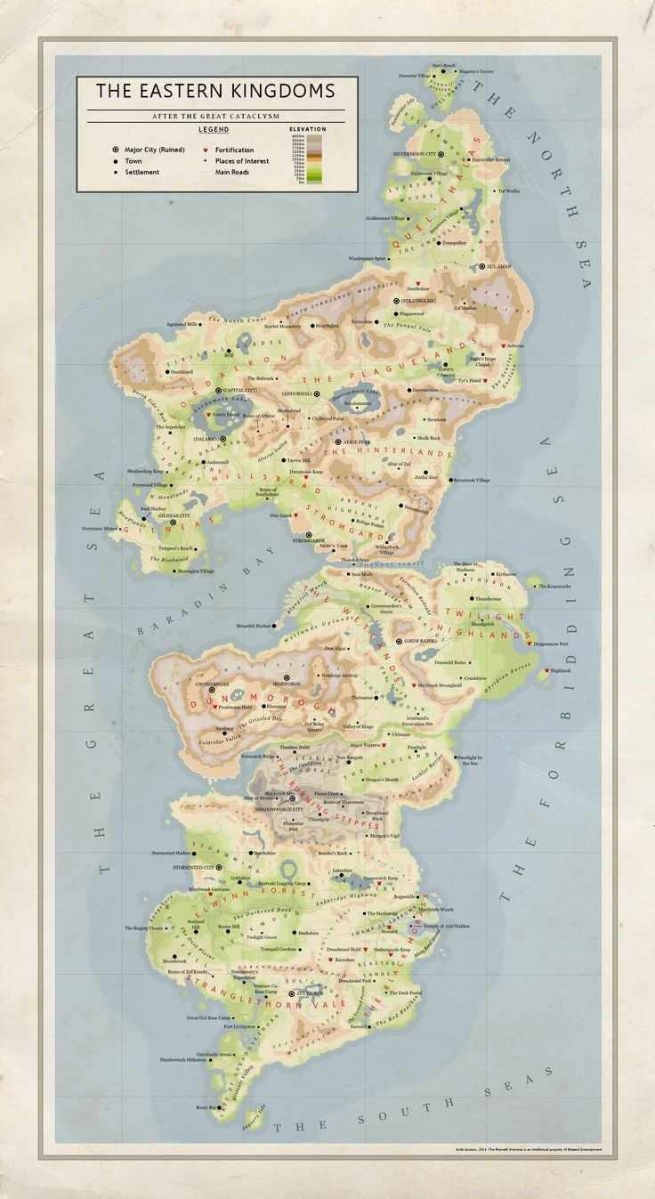 The Eastern Kingdoms (Azeroth Map) | Fantasy Maps! in 2019 | Mapa de ...