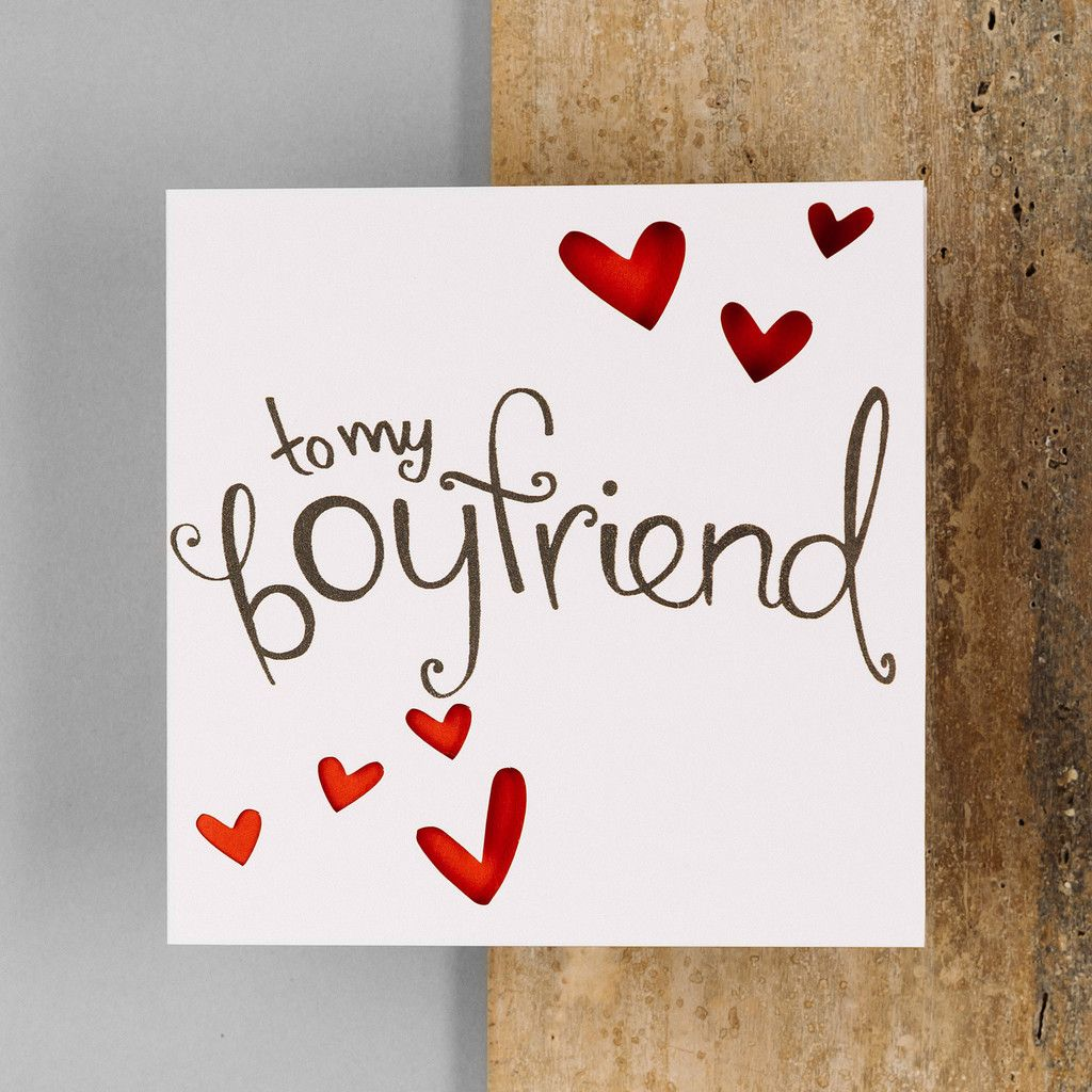 To My Boyfriend Card … Diy birthday card for boyfriend