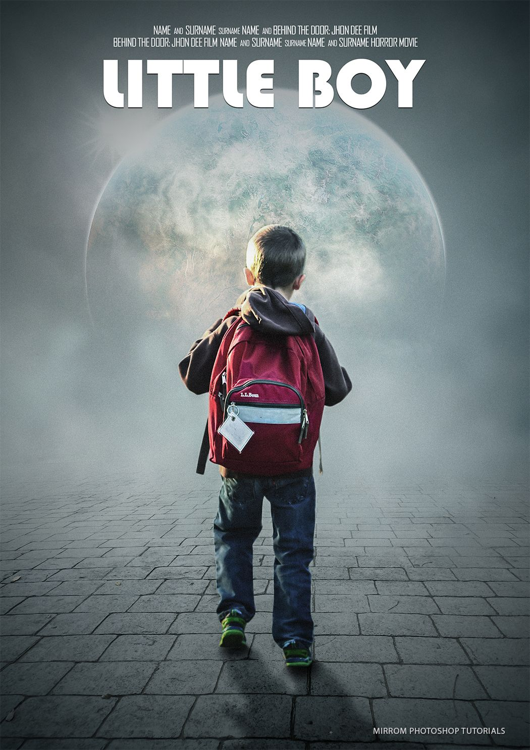 Poster design in photoshop - Today S Photoshop Tuorial I Will Make A Movie Poster Titled Little Boy In Adobe Photoshop Cc Movie Poster Photoshop Tutorials Pinterest Boy Movie