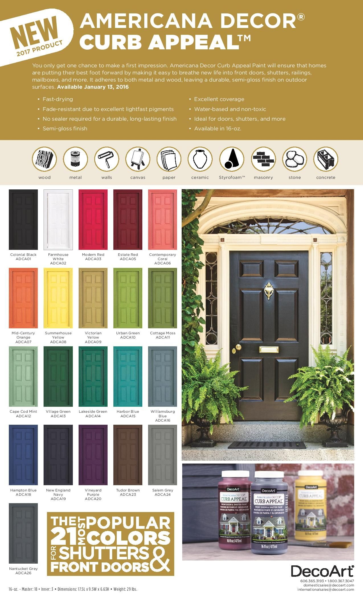 Loving These Bright Painted Coral Front Doors! So Easy To Make A Statement  With Bold Front Door Paint Choices Using @decoartu0027s Curb Appeal Paint.