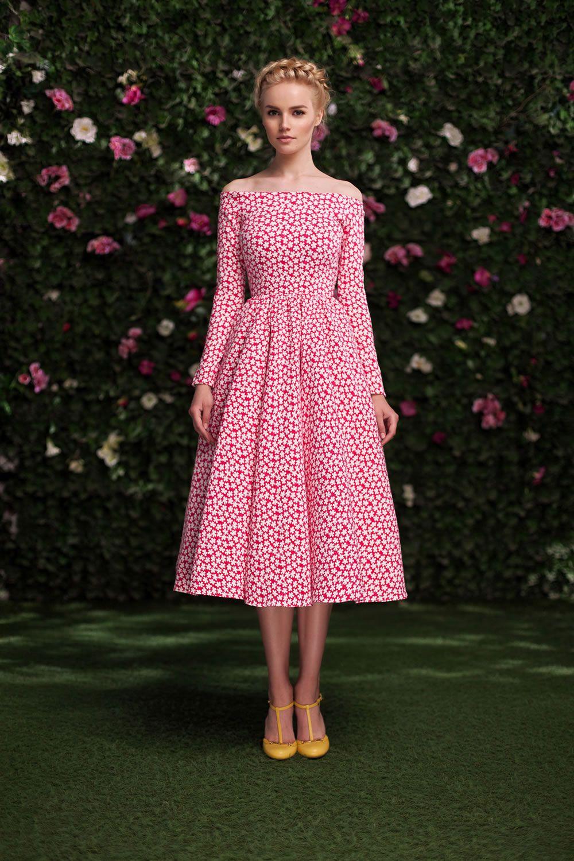 Платье «Аксинья» миди красное — 15 990 рублей | одежка | Pinterest ...