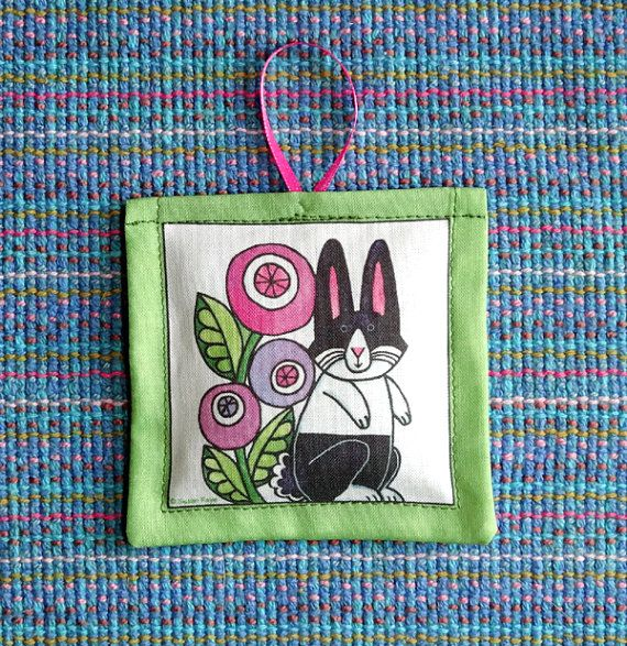 Dutch Rabbit Lavender Sachet  Easter Bunny by SusanFayePetProjects, $7.00
