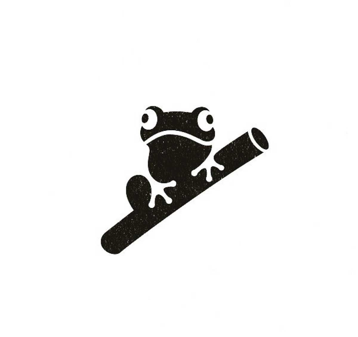 Frog bamboo creative animal negative space logo designs, Best modern minimal ill…