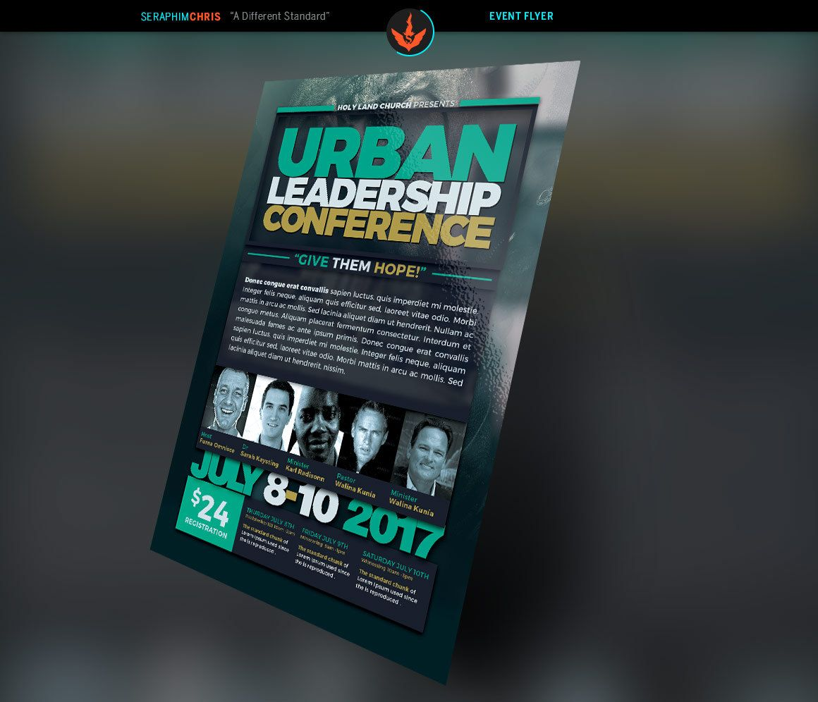 Urban Leadership Conference Flyer Template by SeraphimCollective – Conference Flyer Template