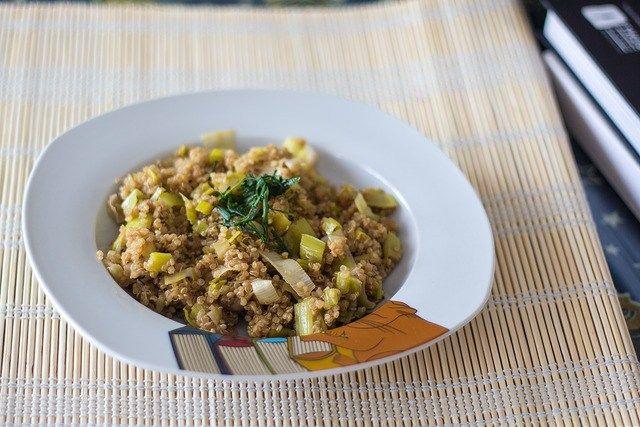 Quinoa Con Puerros Al Aceite De Trufa Aceite De Trufa Cocina Vegana Comida étnica
