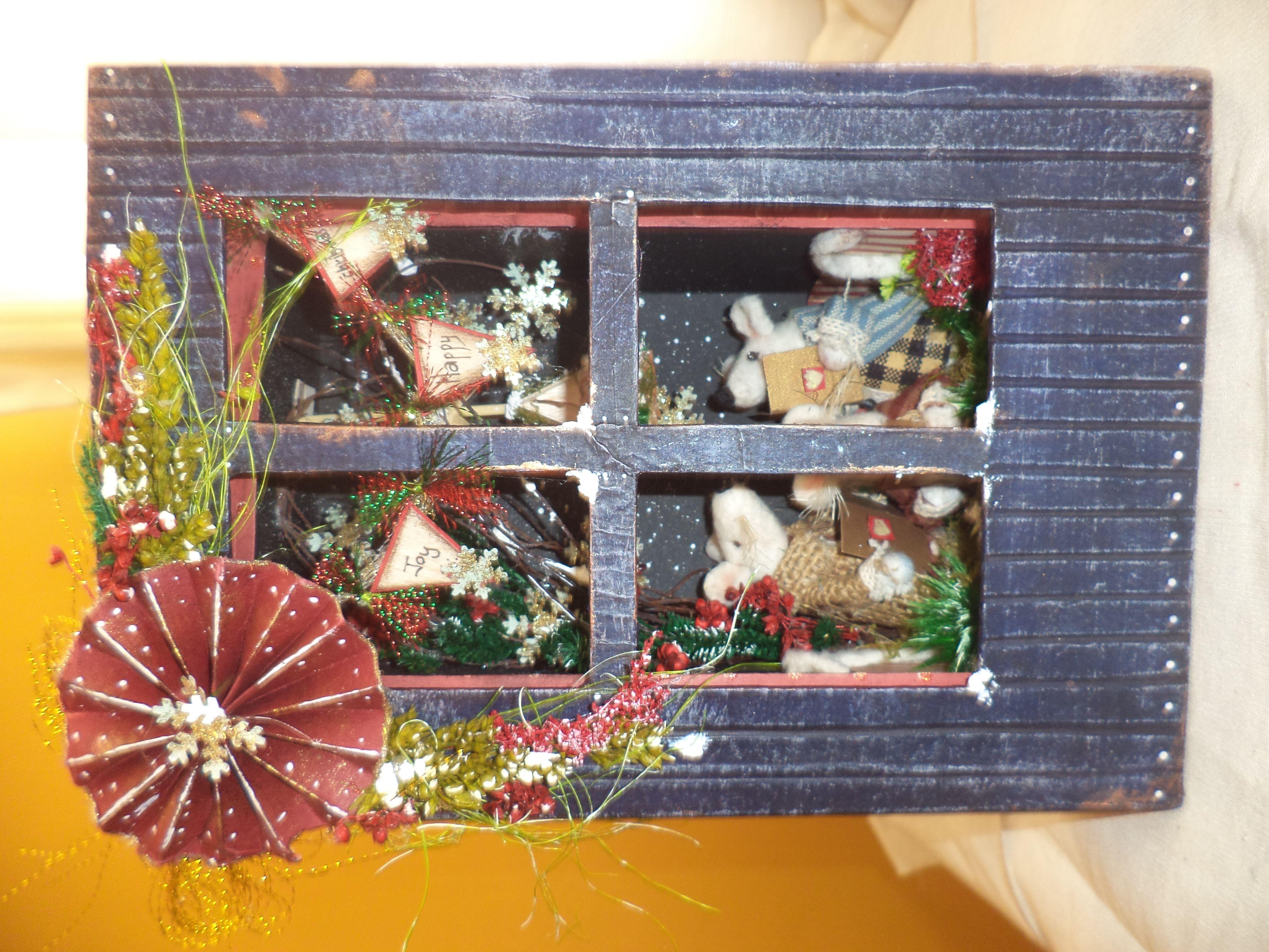 lindo retablo de ratocitos navideños