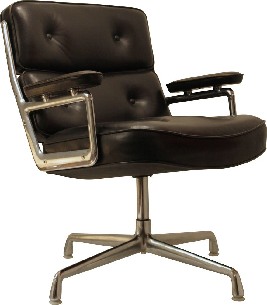 "Fauteuil Vitra ""Lobby Chair"" en cuir, Charles & Ray EAMES"