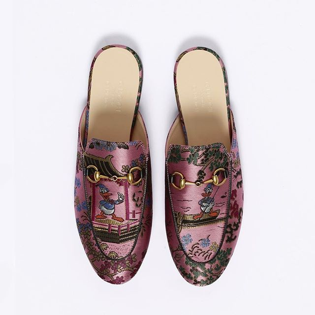 a26ea60a056f Alessandro Michele s endless extravaganza with Donald Duck in a Chinese  temple  gucci  lallo25  antoniamilano  princetown  mule  loafers  ss17   woman  gucci ...
