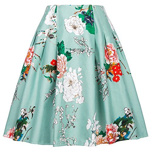 97b7a50211 Pin by Kristin Holden on Xmas List 2017 | Swing skirt, Skirts, Retro