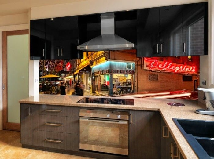 This VR Art Glass Splashback Takes Pride Of Place Within The Kitchen.  Pellegriniu0027s, An Iconic Cafe In Melbourne Brings Memories Flooding Back For  The ...