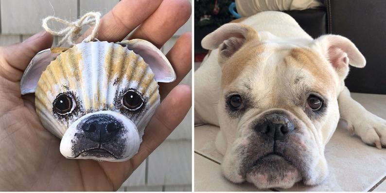Pin By Jayne Rummel On Seashells In 2020 Sea Shells Dog Ornaments Custom Pet Portraits