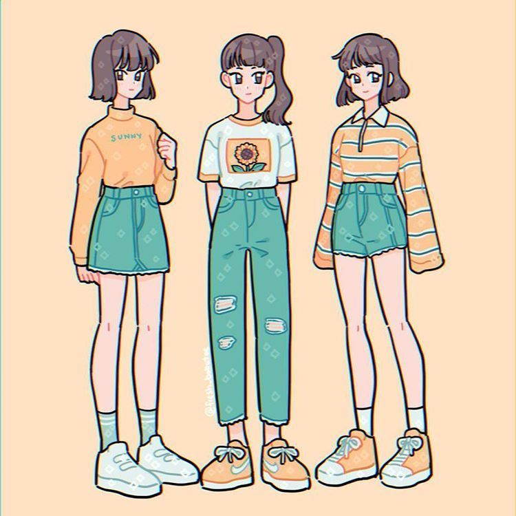 Anime Simple Aesthetic Outfit Drawing Novocom Top