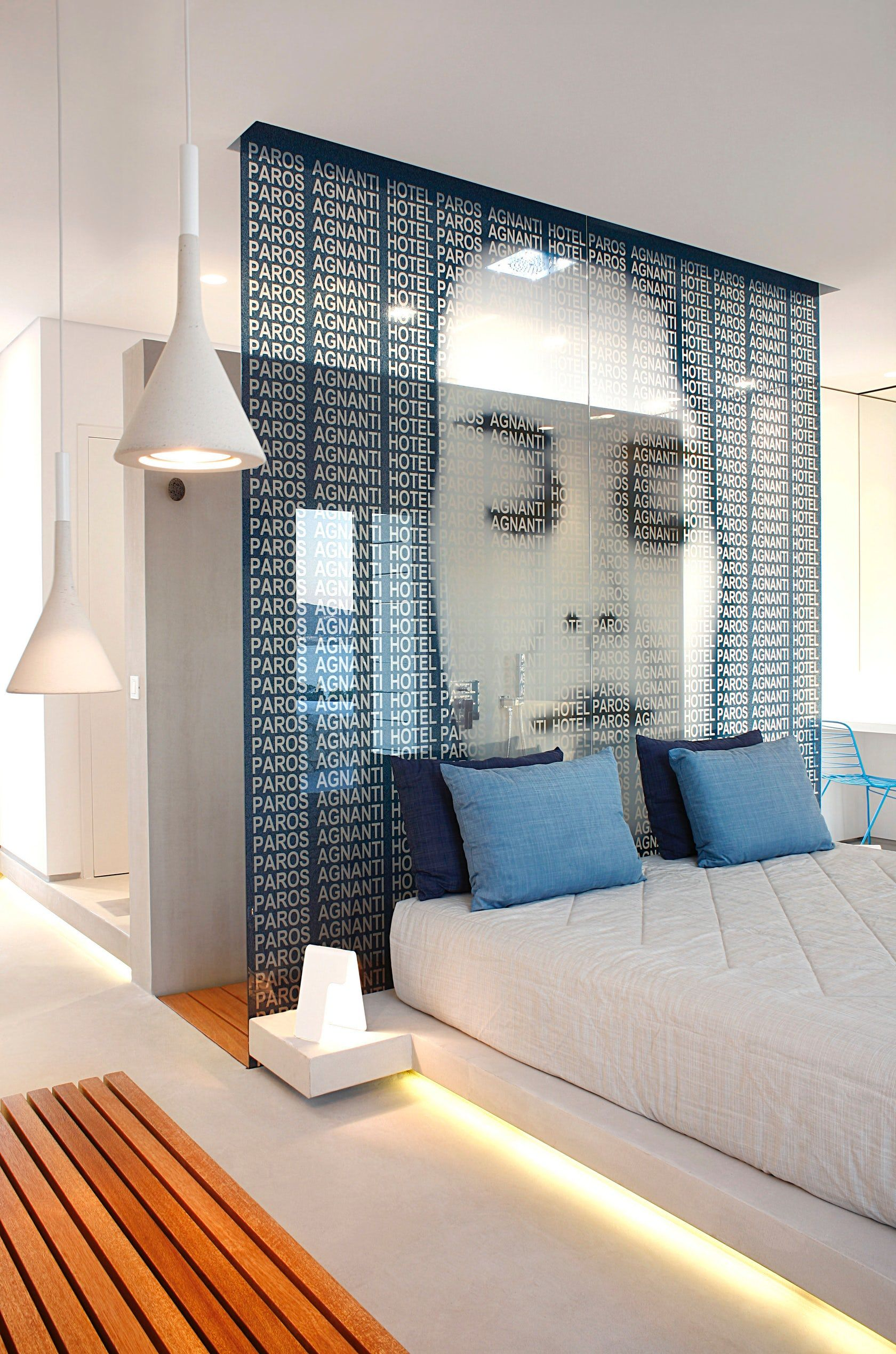 Minimalist Hotel Room: The Project Consists Of A 45m² Suite With Surrounding