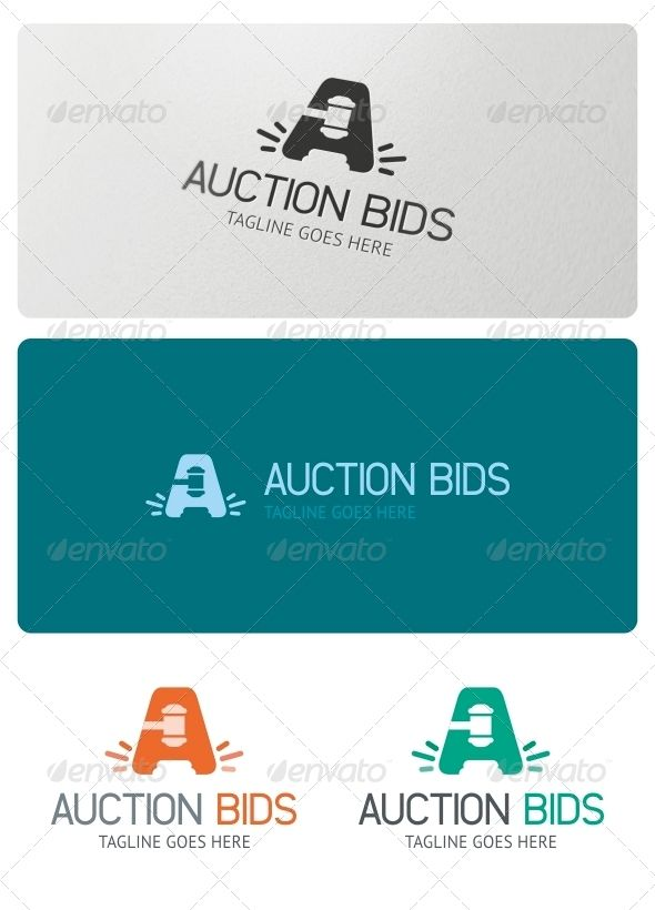Auction Bids - Logo Design Template Vector #logotype Download it - bidding template