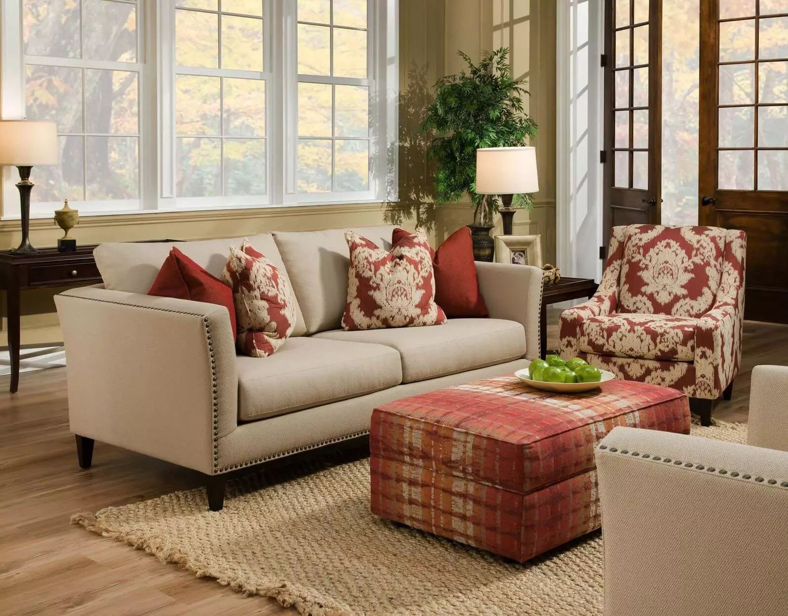 Best 50 Beautiful Living Rooms With Ottoman Coffee Tables 400 x 300