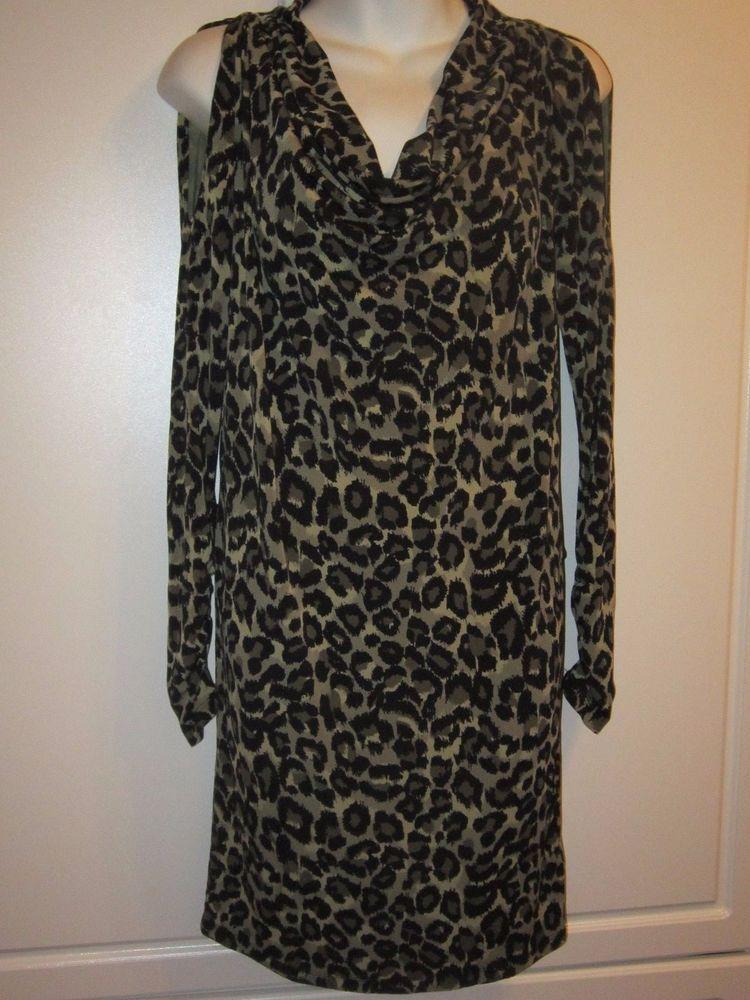 18329362b1 NWOT Michael Kors Animal Print Cold Shoulder Dress Women XS  MichaelKors   ColdShoulder  Daytonight