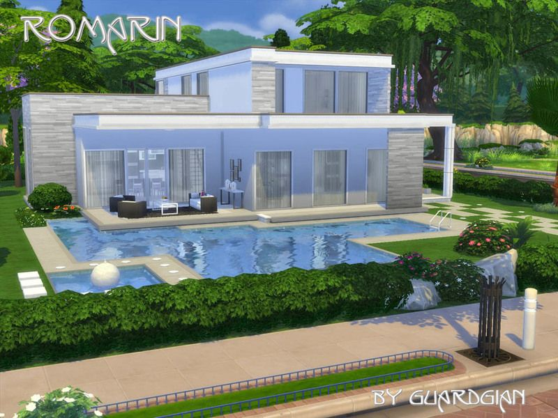 Modern House On 2 Stories Featuring 3 Bedrooms A Master Bedroom A Kid S Room And A Nursery 2 Bathrooms Sims House Sims Freeplay Houses Sims 4 House Design
