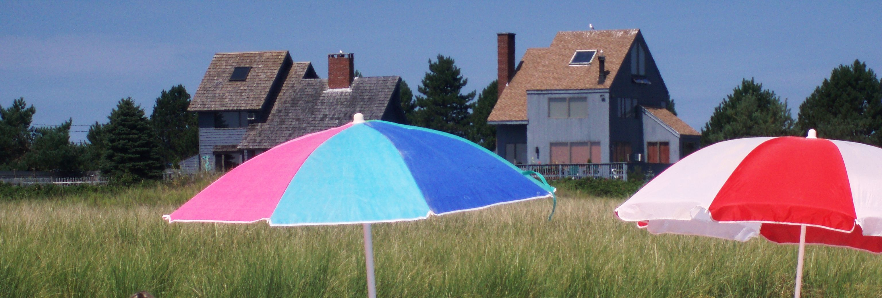 Umbrellas at Wells Beach