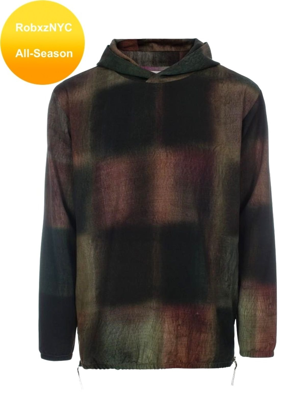 96a212dd4 SOLD: Paul Smith Men's Wool Side Zip Hoodie Blurred Check Print size ...