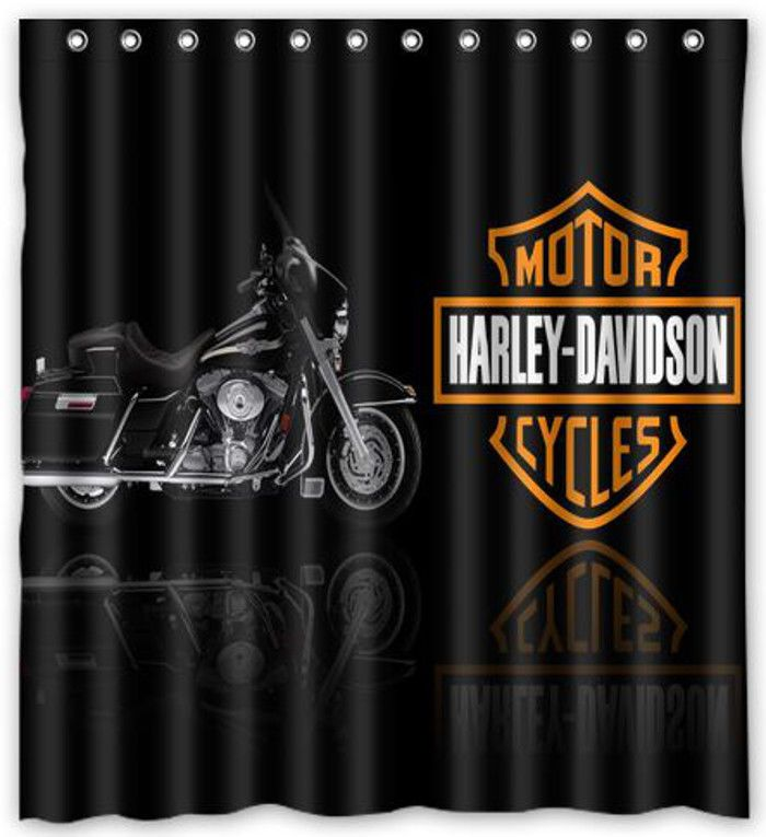nl750 harley davidson motor cycles shower curtain bath 66 x 72 unique design custom made. Black Bedroom Furniture Sets. Home Design Ideas