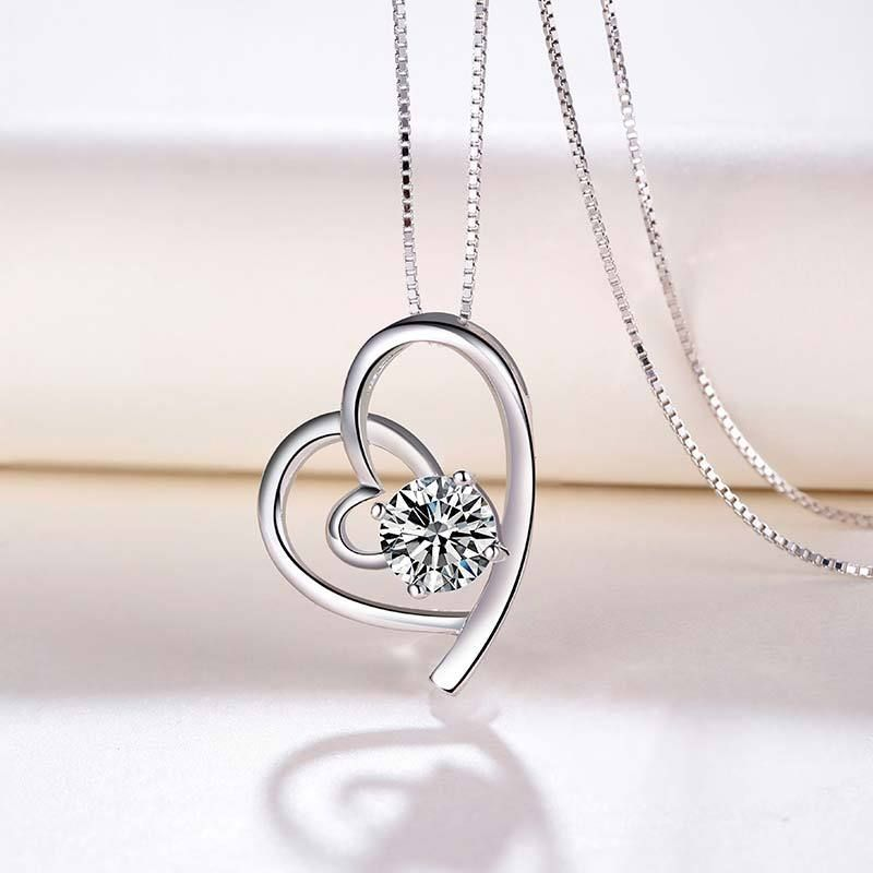 Factory direct sales s925 silver pendant korean jewelry wholesale factory direct sales s925 silver pendant korean jewelry wholesale heart shaped necklace manufacturers production decorated aloadofball Images