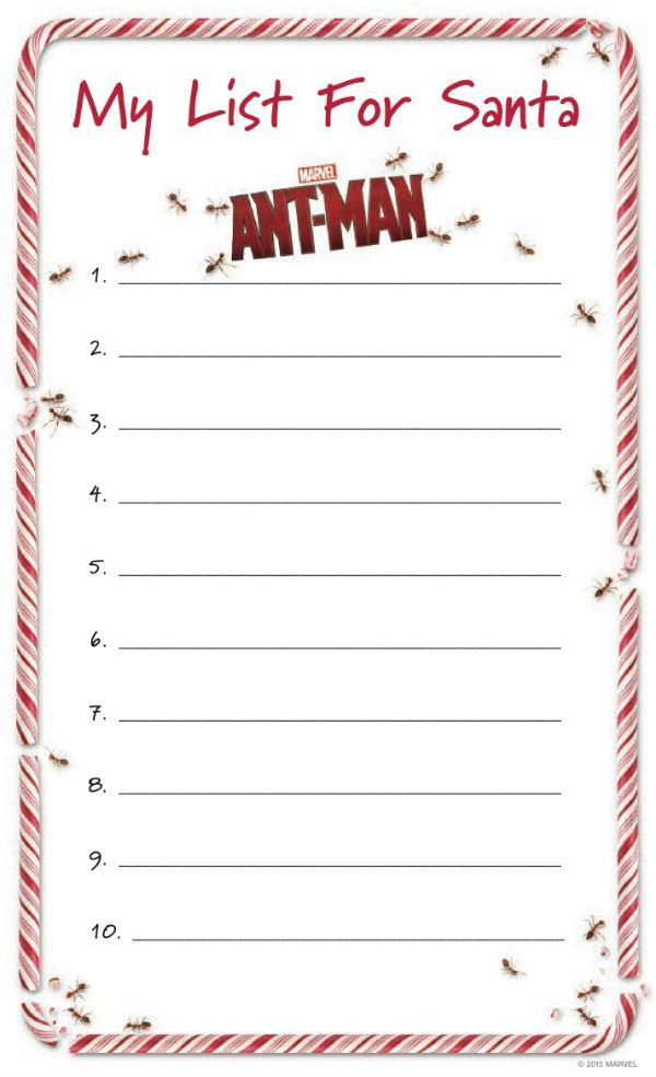 Free Printable Marvel AntMan Santa