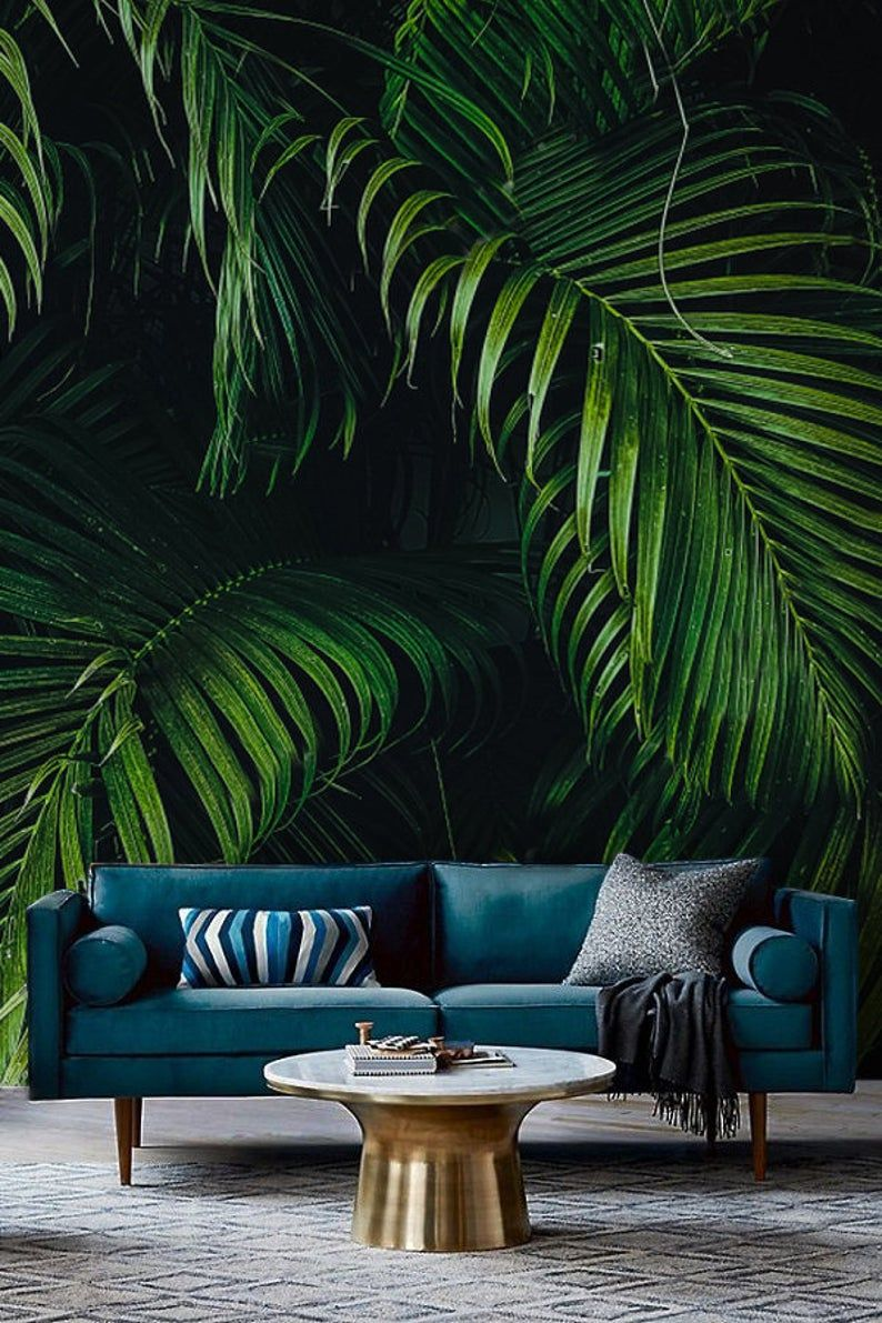 VLIES FOTOTAPETE Pflanzen grün Natur Wald Dschungel TAPETE WANDBILDER XXL 297