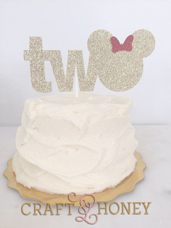 Mouse Ears Birthday Cake Topper Cake Topper First Birthday Second Birthday Birthday Cake Toppers Minnie Mouse Cake Topper Second Birthday Cakes