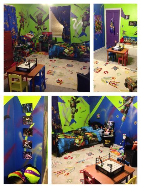 Teenage Mutant Ninja Turtles Bedroom Ideas | Ninja turtle bedroom