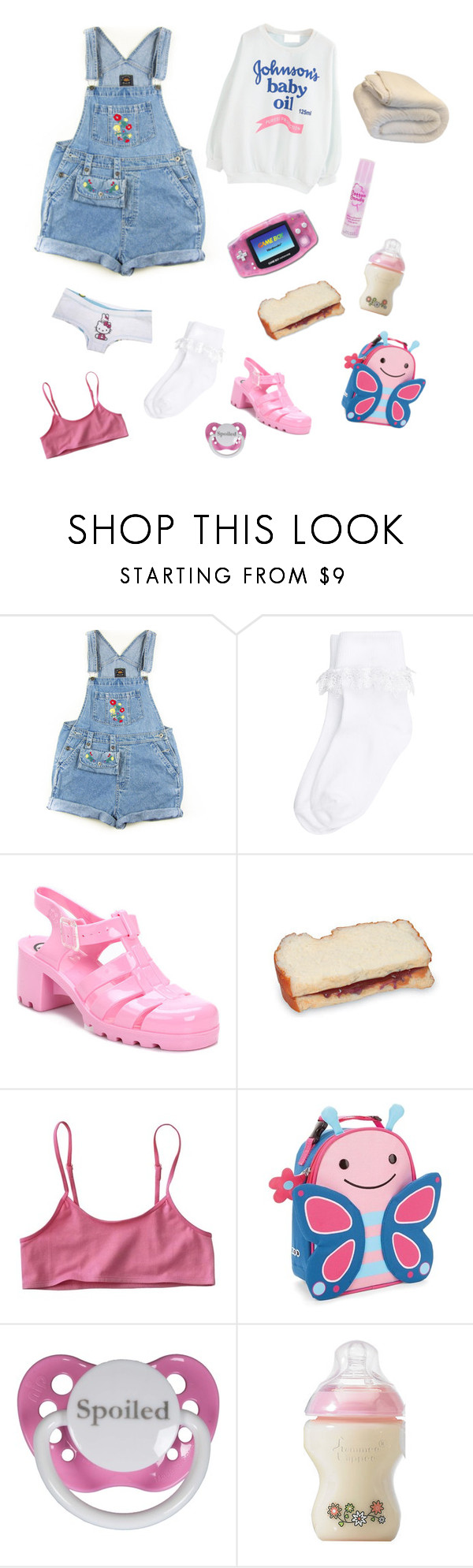 """""""Baby Oil"""" by dead-head-dolly ❤ liked on Polyvore featuring Monsoon, JuJu, Nintendo, Skip Hop and Cotton Candy"""