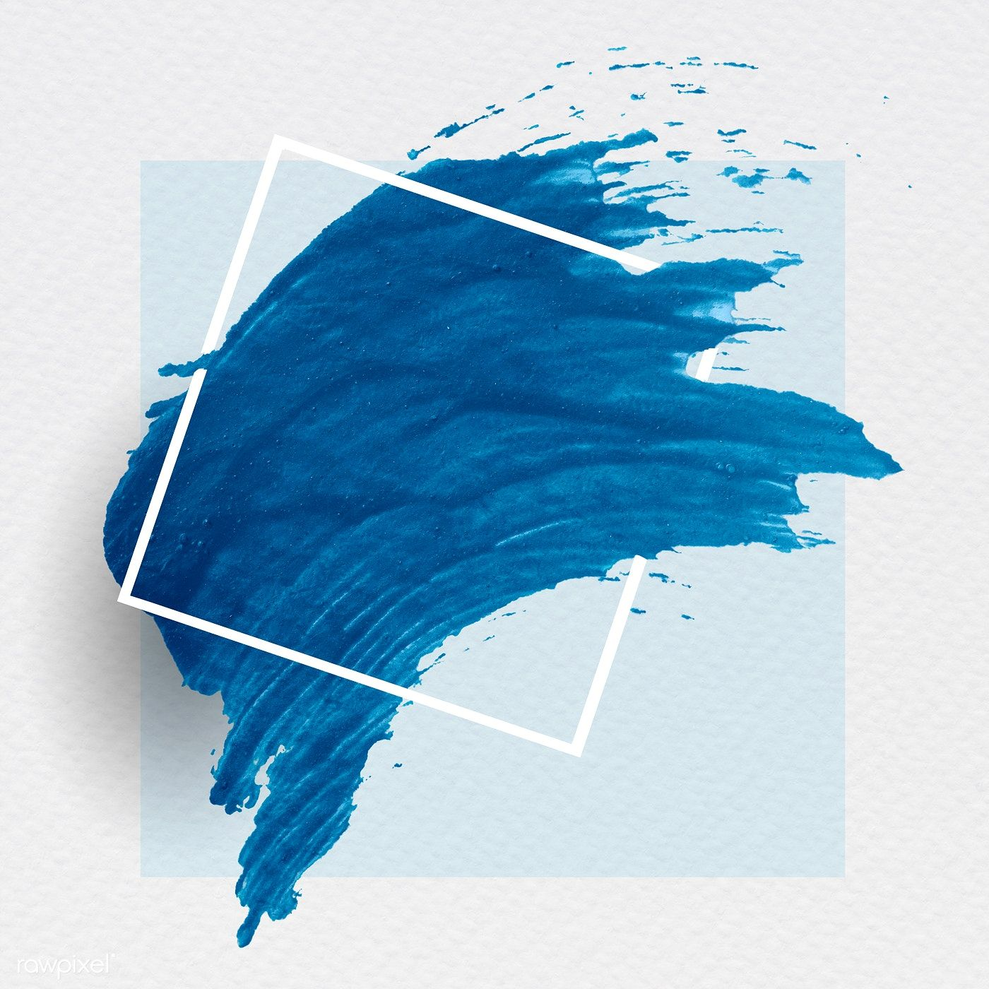Blue brush stroke banner vector free image by rawpixel