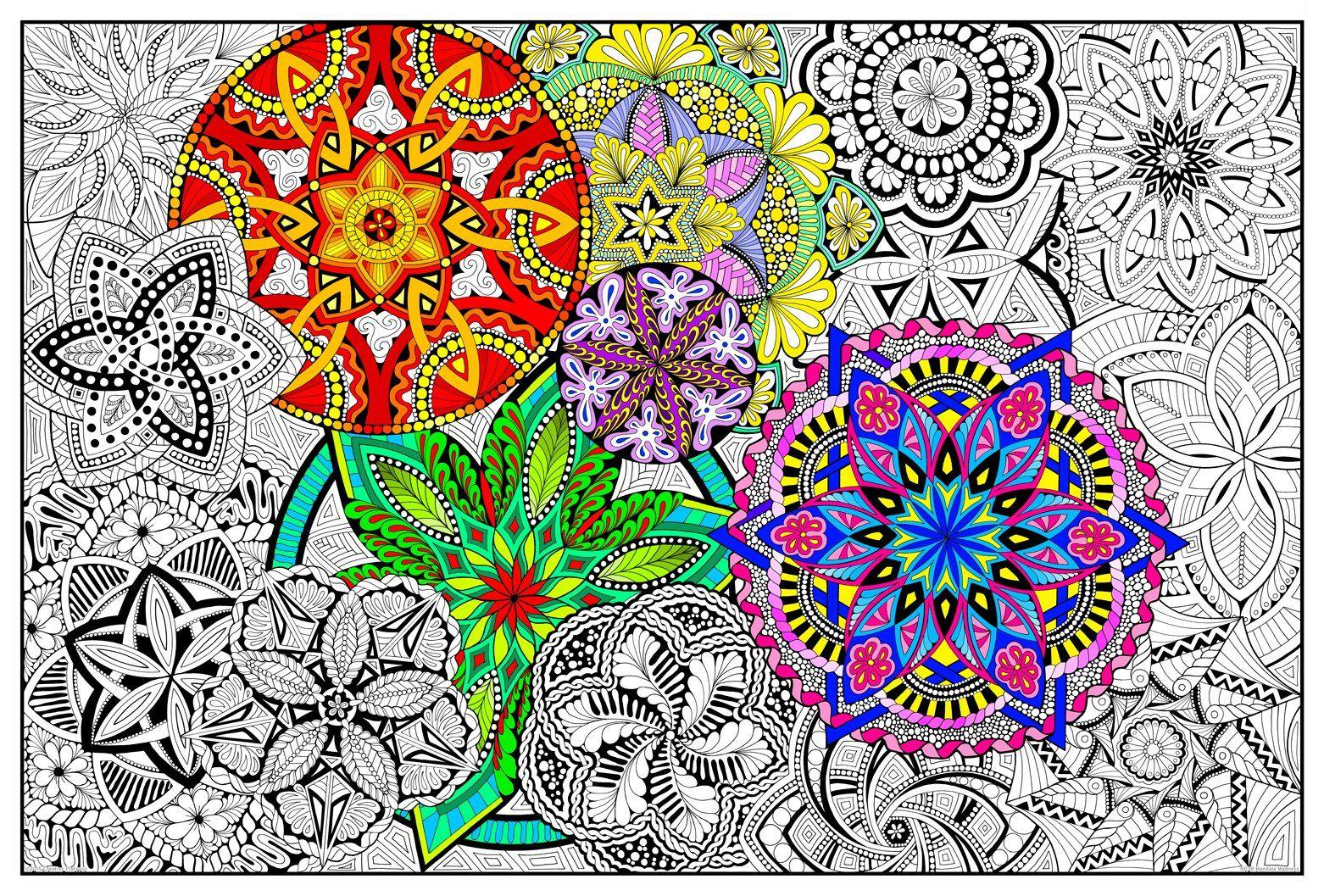 Robot Check Mandala Coloring Pages Coloring Posters Mandala Coloring