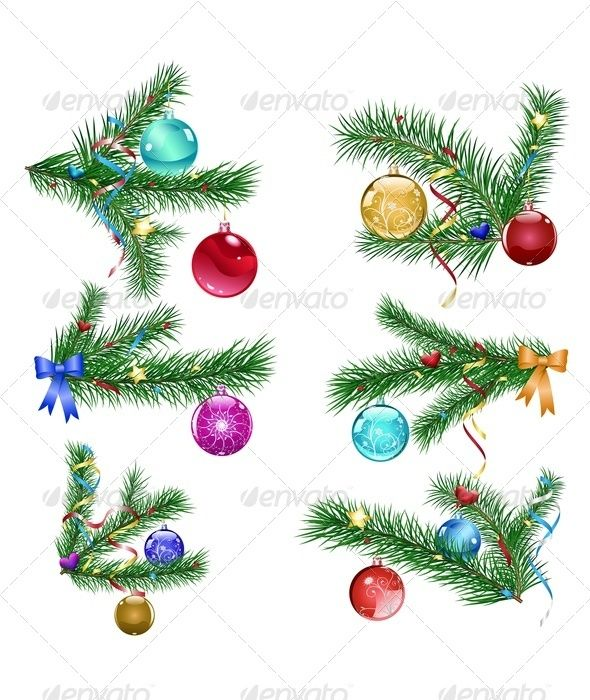 Christmas Tree Branches with Christmas Balls  #GraphicRiver         Set of Christmas tree branches with three Christmas balls and serpentine. Vector illustration, fully editable, vector objects separated and grouped. Files included – AI (version 10), EPS (version 10) and high resolution JPEG (4167×4167 300 dpi).     Created: 6December12 GraphicsFilesIncluded: JPGImage #VectorEPS #AIIllustrator Layered: Yes MinimumAdobeCSVersion: CS Tags: ball #balls #blue #branch #branches #celebration…