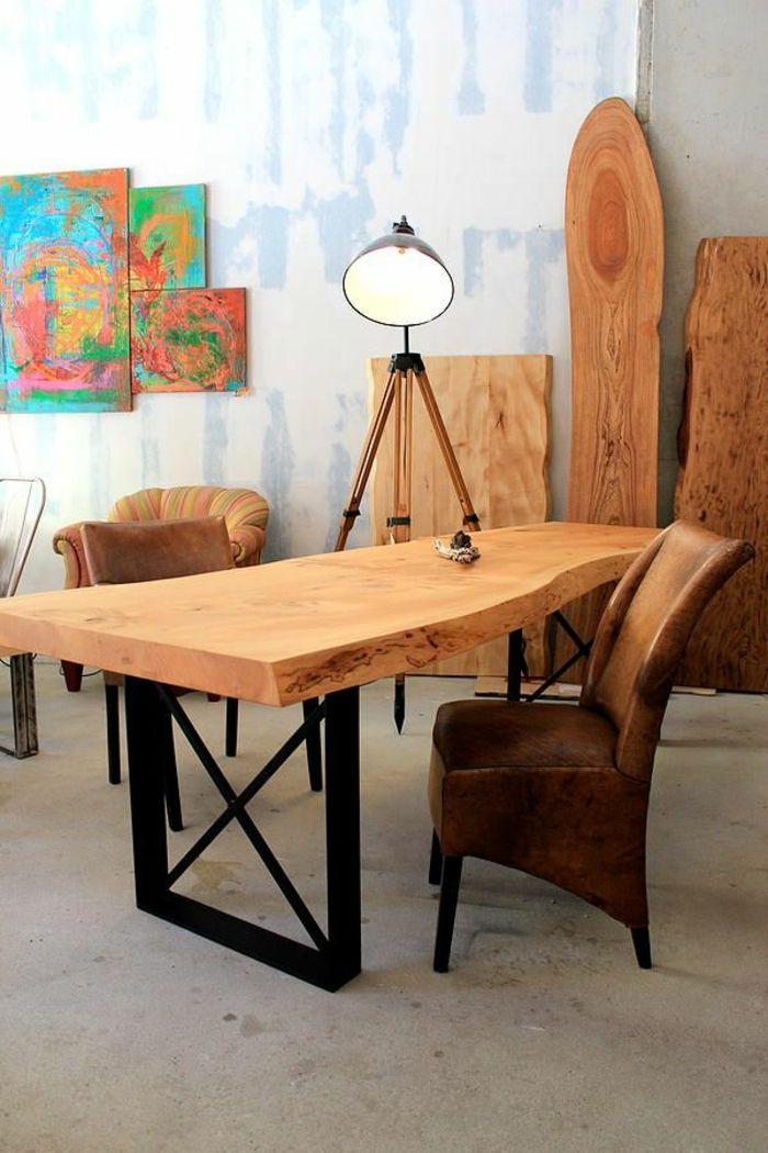 sehr coole schreibtisch ideen m bel aus massivholz dining table chairs metal furniture