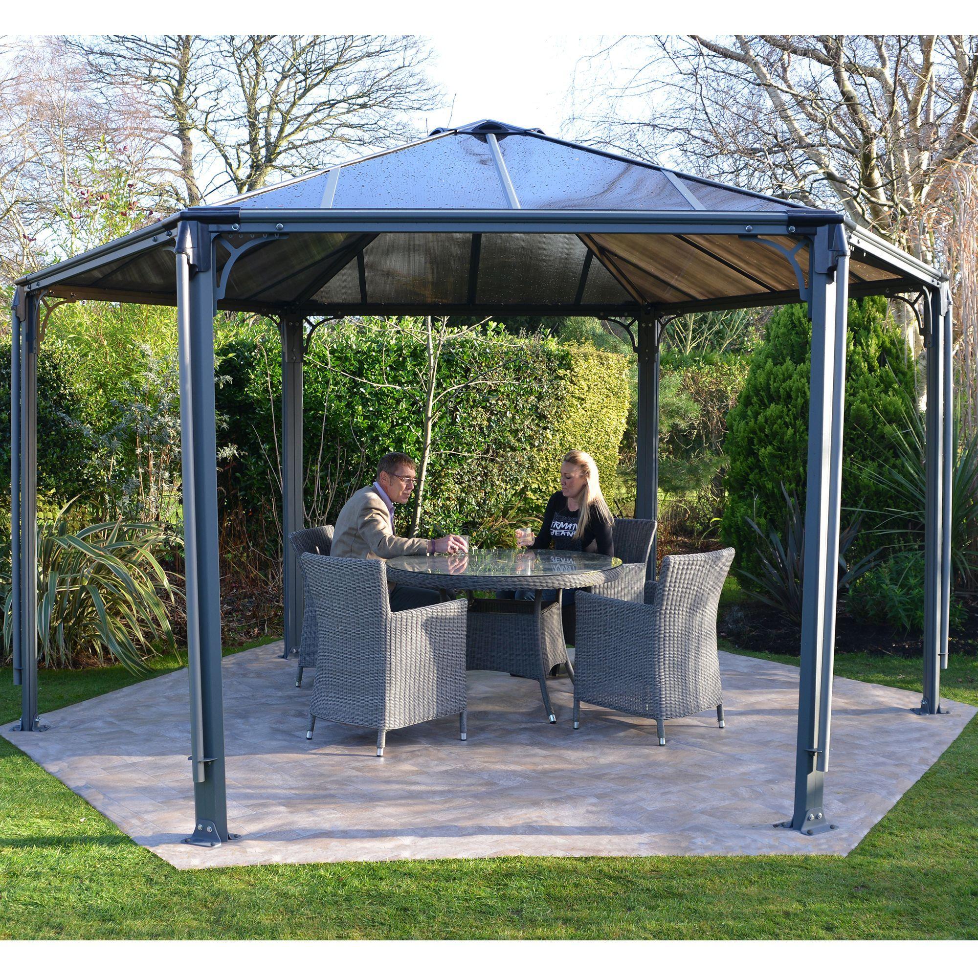 tonnelle hexagonale kiosque jardin par pi ce alin a fr d coration int rieur alinea. Black Bedroom Furniture Sets. Home Design Ideas
