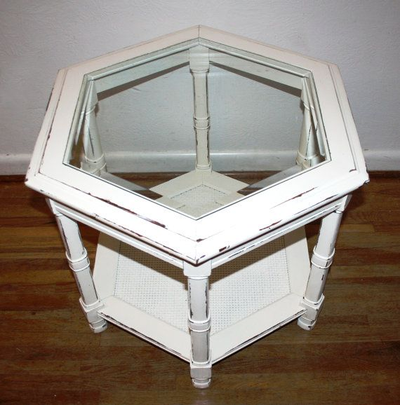 Vintage Ivory Colored Hand Painted Furniture Shabby Chic