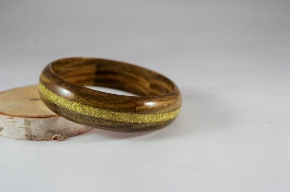 Lignum Vitae Argentine Wooden Bangle Bracelet by SimplyYelena
