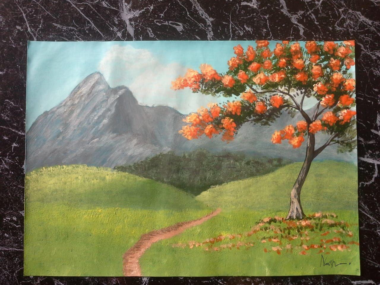 Peinture Acrylique Paysage Simple Inspiree Par Art Of John Magne