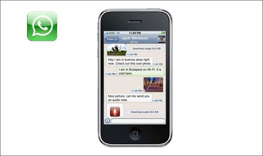 WhatsApp은 아이폰과 블랙베리에서 사용가능한 스마트폰용 메신저이다. 아는 사람들은 다 알고 있겠지만 그래도 모르는 분들을 위해 한번 소개해 볼까 한다. 이 앱은 스마트폰이 ...
