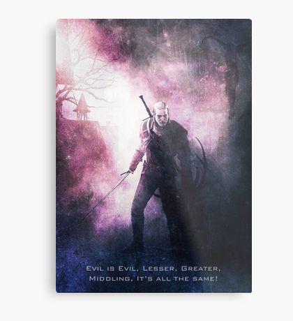 Witcher Wild Hunt Tagline Metal Print | Displate thumbnail