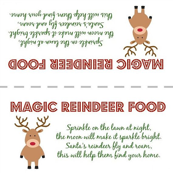 graphic regarding Reindeer Food Printable identified as Magic Reindeer Foods Deal with Bag Topper Printable as a result of